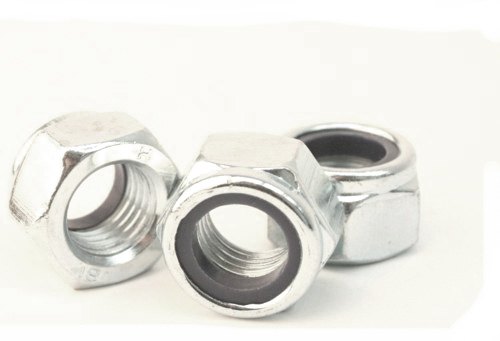 Buy mild steel bright zinc plated nyloc nuts UK