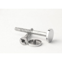 Woodscrews - Chrome Plated Flat Coverhead No 8 x 3""
