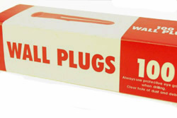 Buy plastic nylon wall plugs UK