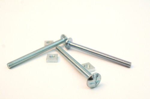 Buy bright zinc plated roofing bolts and square nuts UK