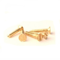 Brass Woodscrews No 6 x 3/4 Sltd Csk Box 100